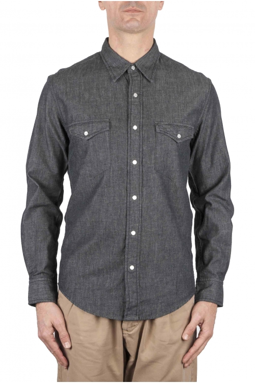 SBU 01084 Camicia western in denim 01