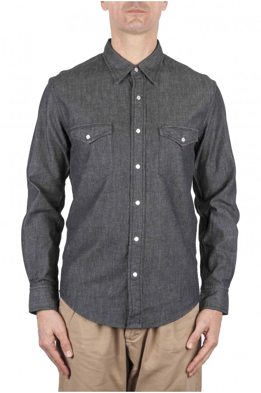 SBU 01084 Camisa western de denim 01