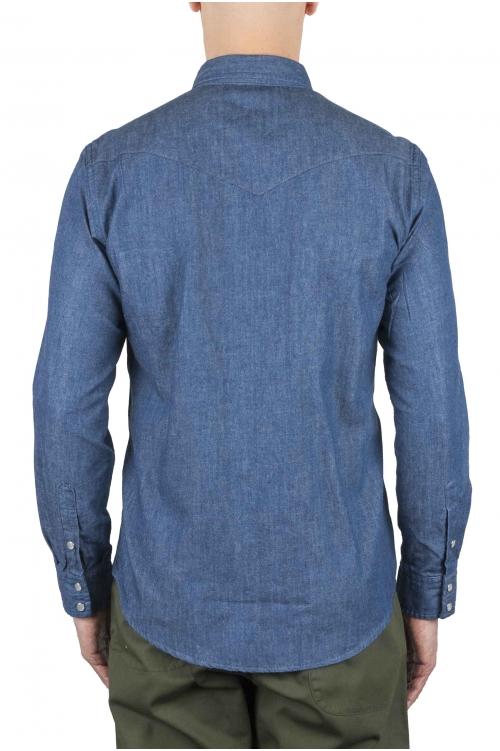 SBU 01085 Camisa western de denim 01