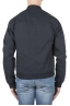 SBU 01100 Stone washed blue cotton bomber jacket 04