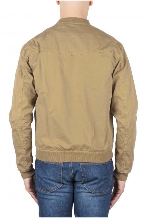 SBU 01101 Chaqueta bomber de algodón beige lavado a la piedra 01