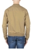 SBU 01101 Stone washed beige cotton bomber jacket 04