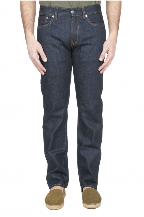 Selvedge denim blue jeans