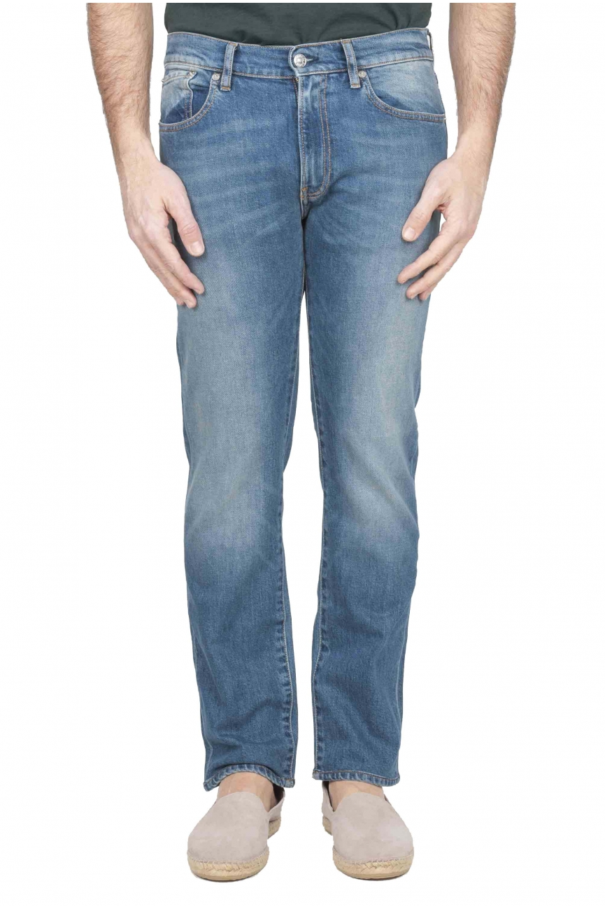 SBU 01119 Stretch denim blue jeans 01