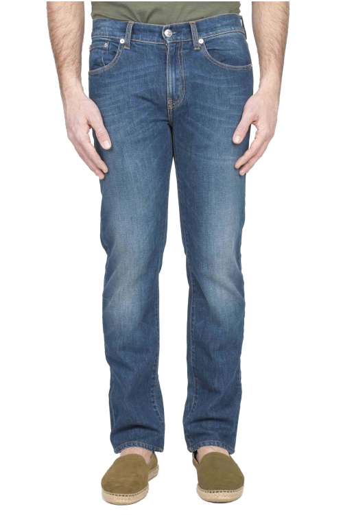 Stretch Denim blue jeans