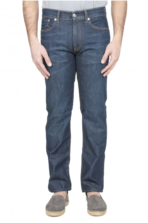 SBU 01123 Blue jeans in denim di cotone 01