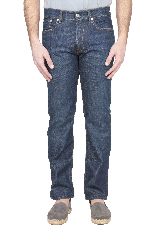SBU 01123 Blue jeans in denim di cotone 01
