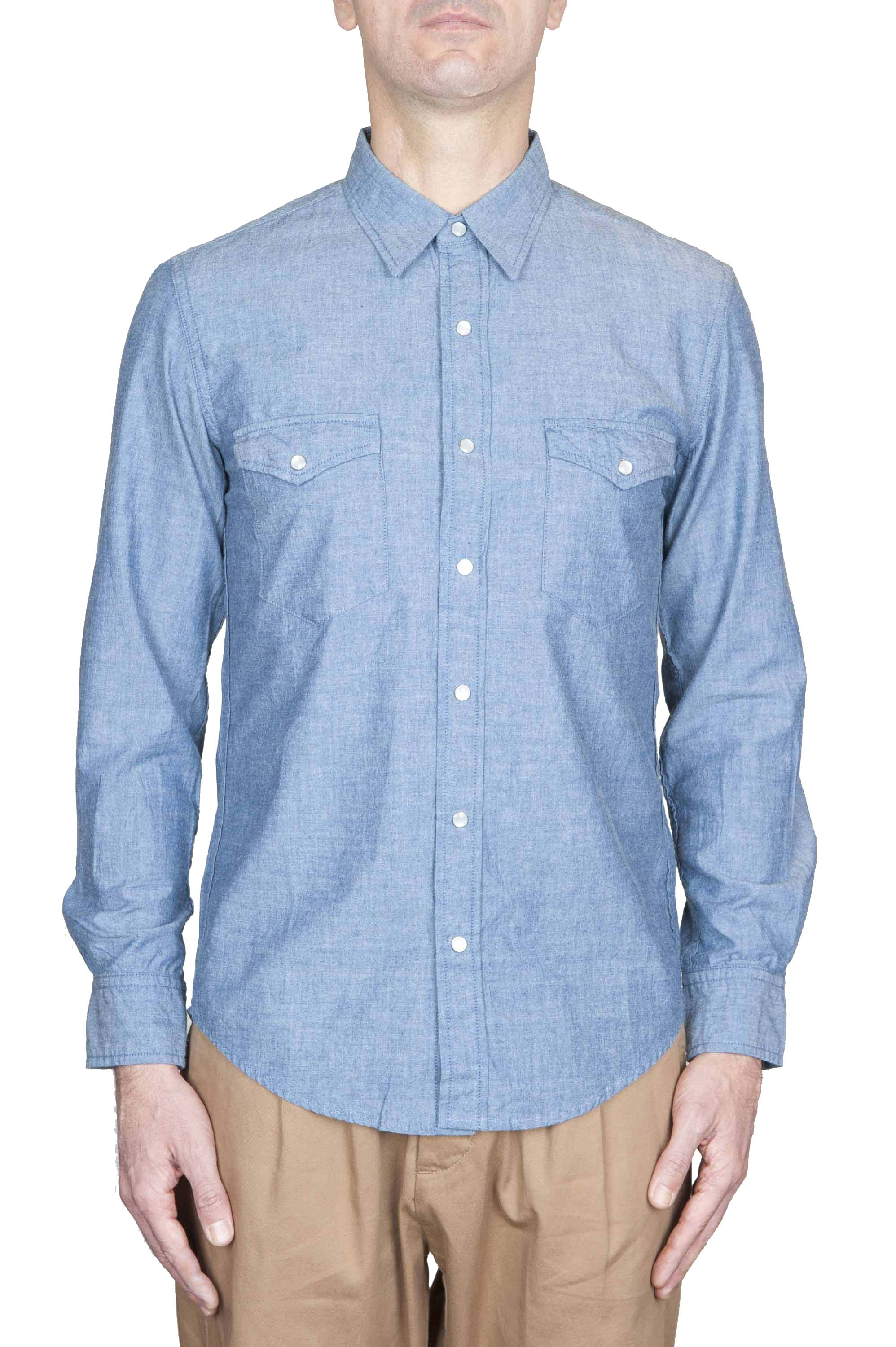 SBU 01125 Camicia western in denim 01