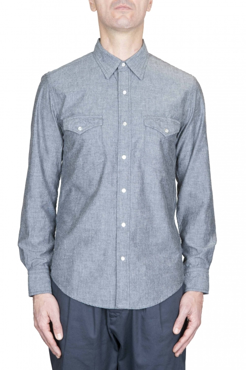 SBU 01126 Camicia western in denim 01