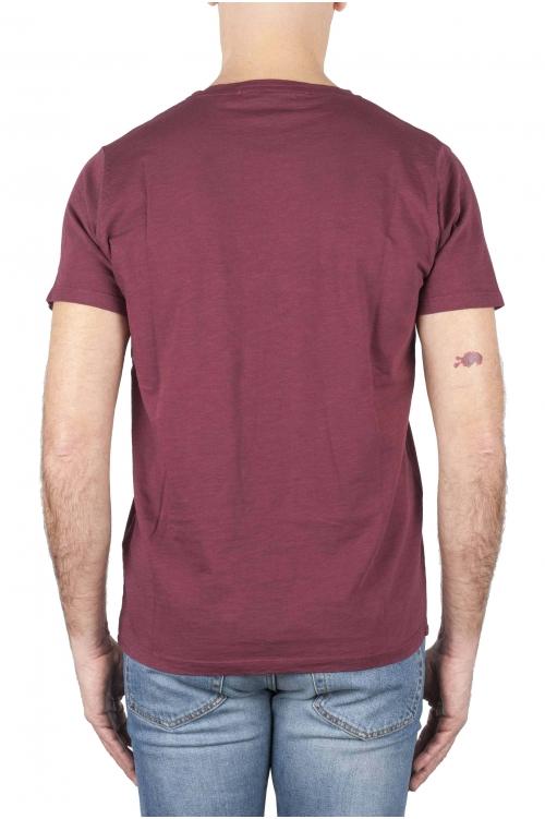スクープネックコットンTシャツ