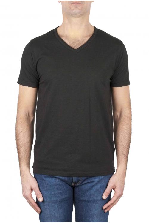 SBU 01159 Camiseta con cuello en v slim fit 01