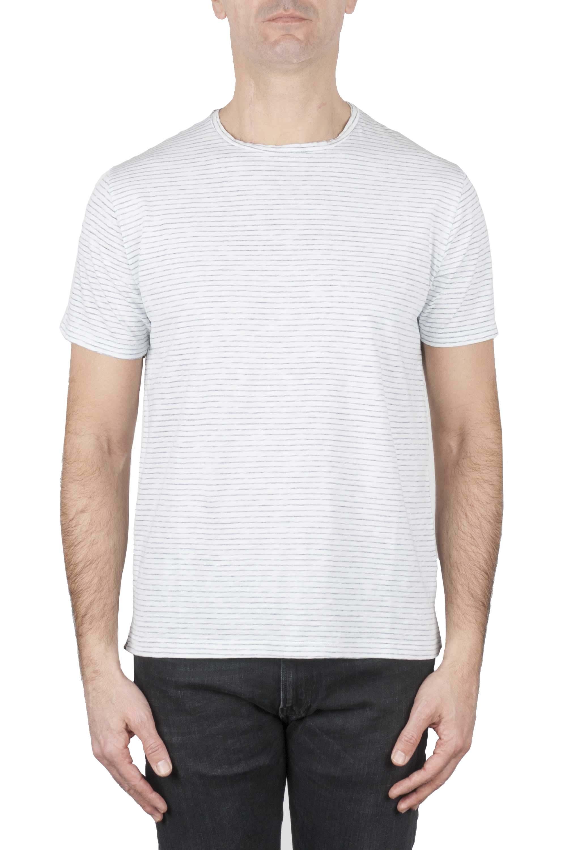 SBU 01161 T-shirt collo aperto rigata 01
