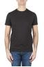 SBU 01165 Shirt classique noir col rond manches courtes en coton 01