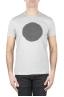 SBU 01169 Clásica camiseta de cuello redondo manga corta de algodón negra y gris gráfica impresa 01