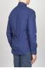 SBU - Strategic Business Unit - Classic Point Collar Blue Micro Pattern Madras Cotton Shirt
