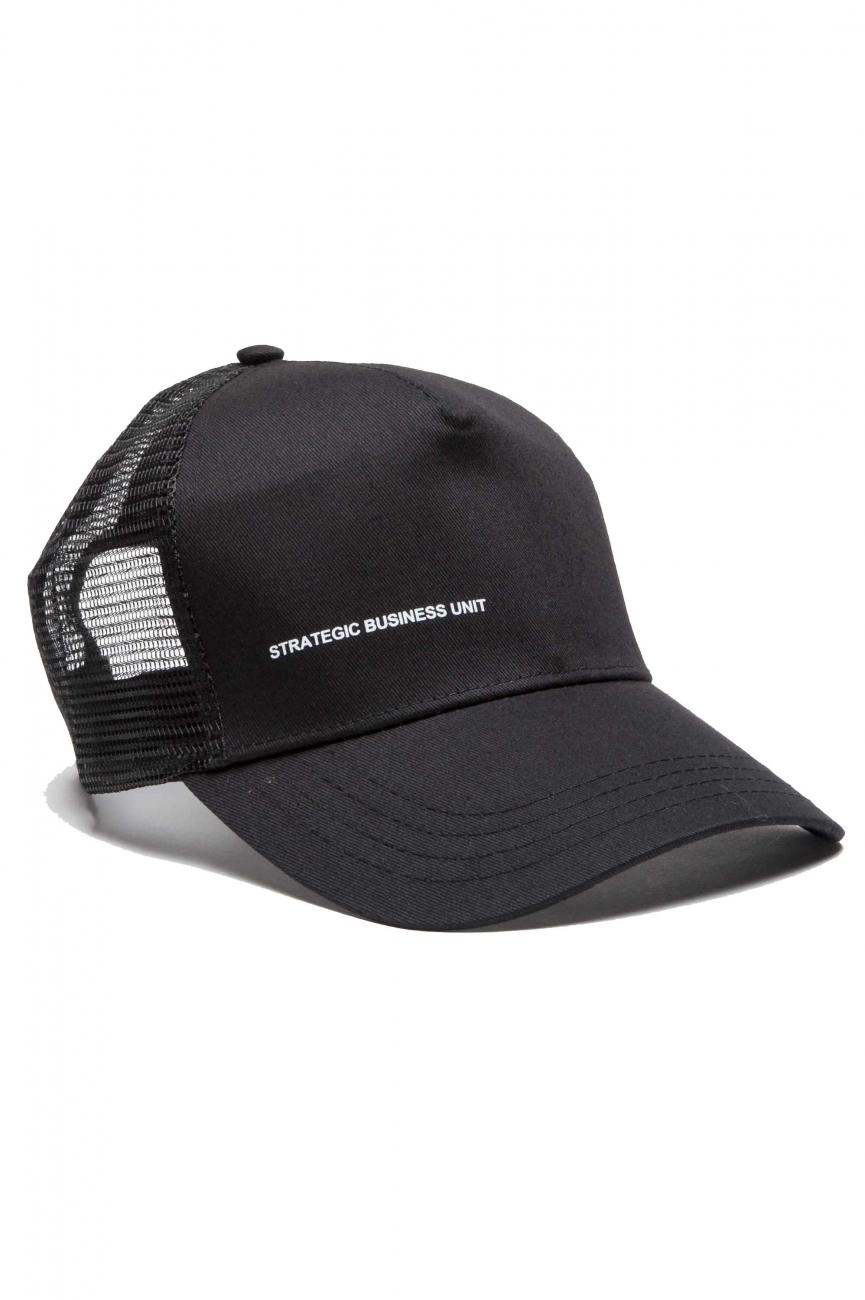 SBU 01189 Trucker cap classico di cotone nero 01
