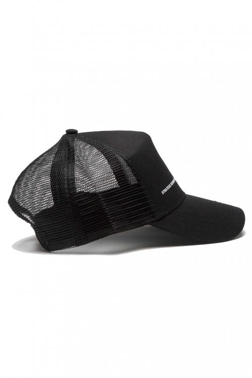 SBU 01189 Classique casquette trucker en coton noir 01