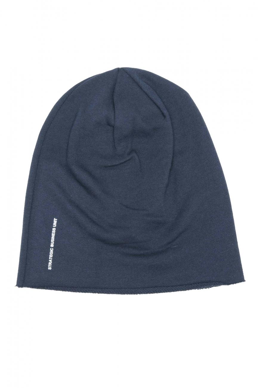 SBU 01190 Clásico gorro de lana con corte en punta azul 01