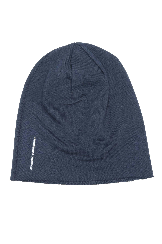 SBU 01190 Bonnet en laine classique de coupe en pointe bleu 01