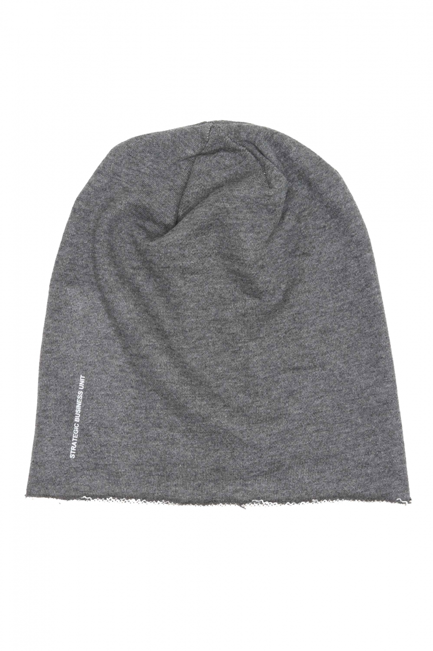 SBU 01191 Classic sharp cut grey jersey bonnet 01