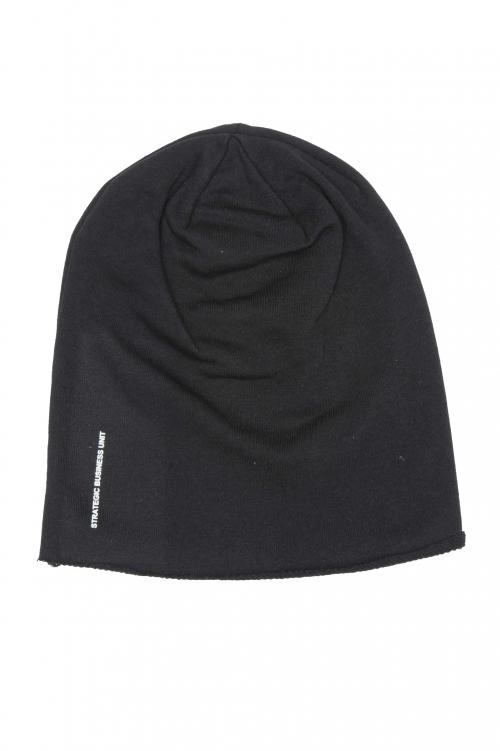 SBU 01192 Clásico gorro de lana con corte en punta negro 01