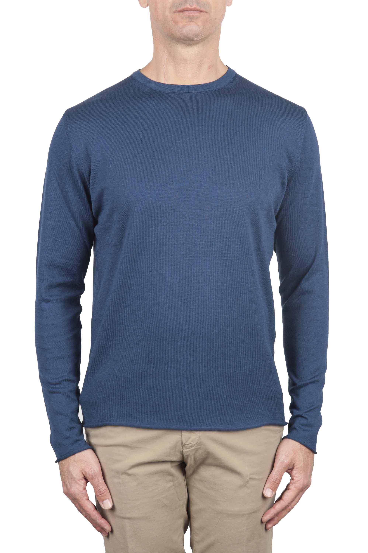 SBU 01196 Suéter de corte crudo en cuello redondo 01