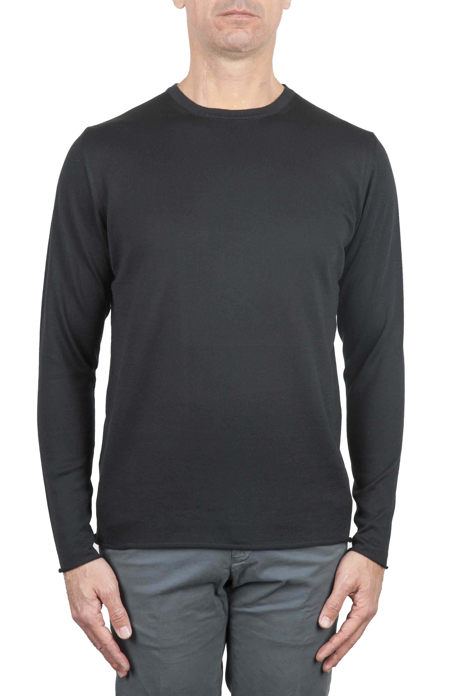 SBU 01197 Suéter de corte crudo en cuello redondo 01