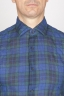 SBU - Strategic Business Unit - Classic Point Collar Blue Madras Cotton Shirt