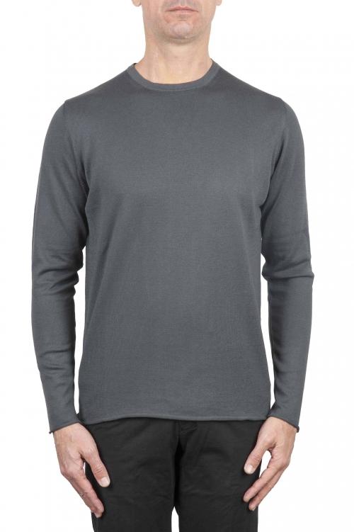Crew neck raw cut sweater