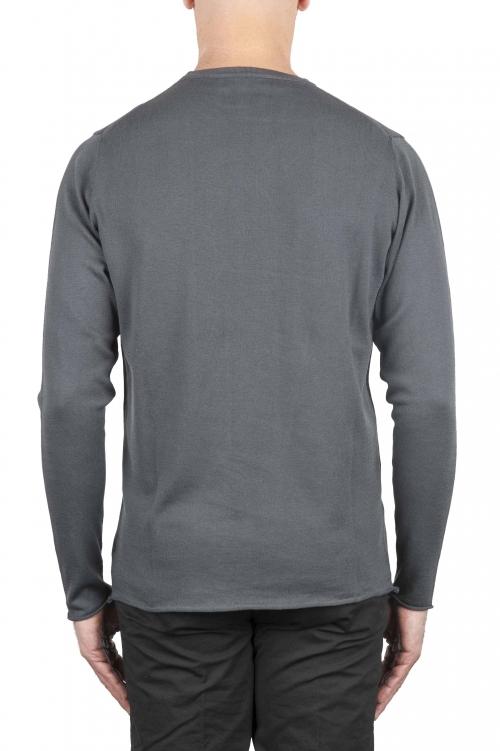 SBU 01198 クルーネック生のカットセーター 01