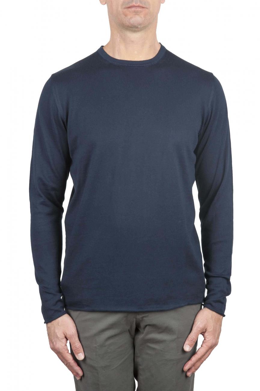 SBU 01199 クルーネック生のカットセーター 01