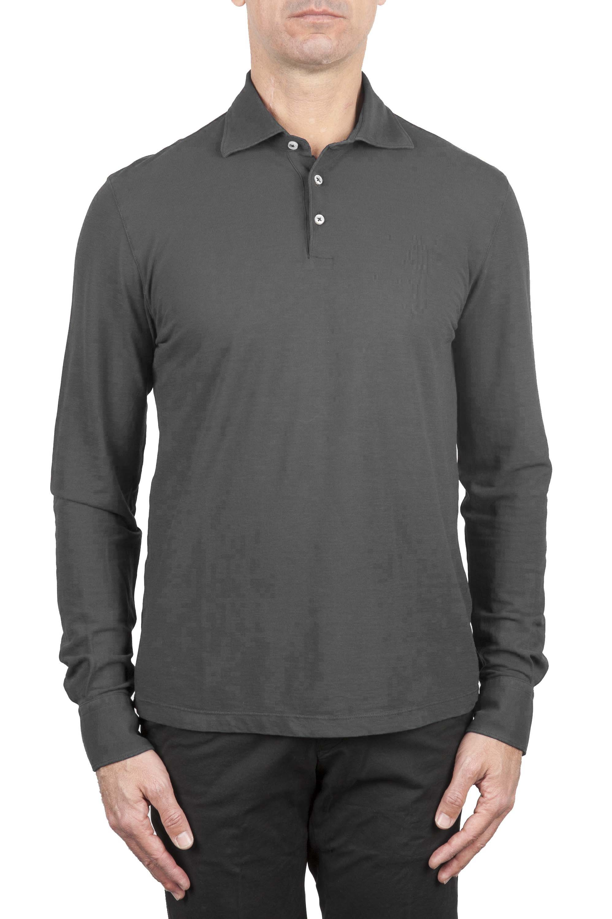 SBU 01207 Long sleeve polo shirt 01