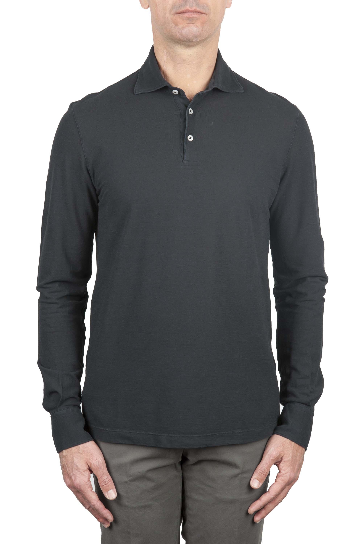 SBU 01208 Long sleeve polo shirt 01