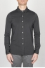 SBU - Strategic Business Unit - Camicia Classica Collo A Punta In Cotone Jersey Nera
