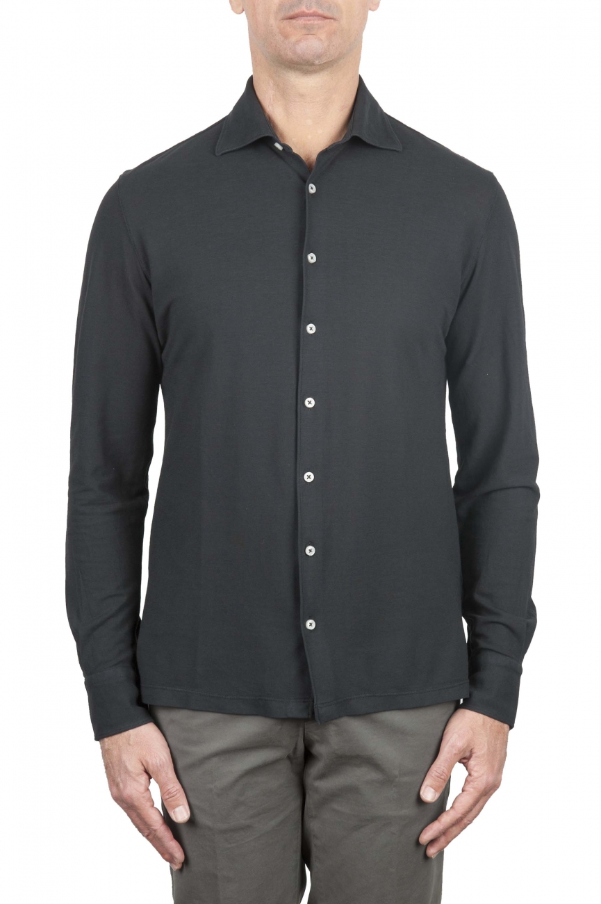 SBU 01211 Cotton crepe shirt 01
