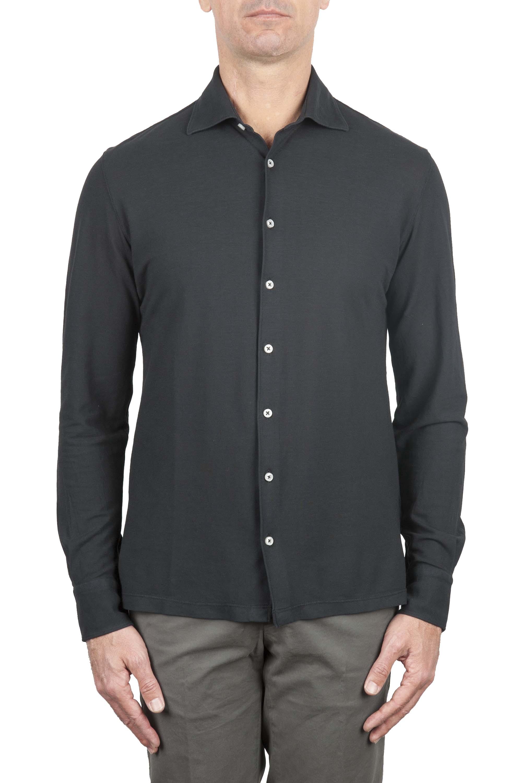 SBU 01211 Camicia in crepe di cotone 01