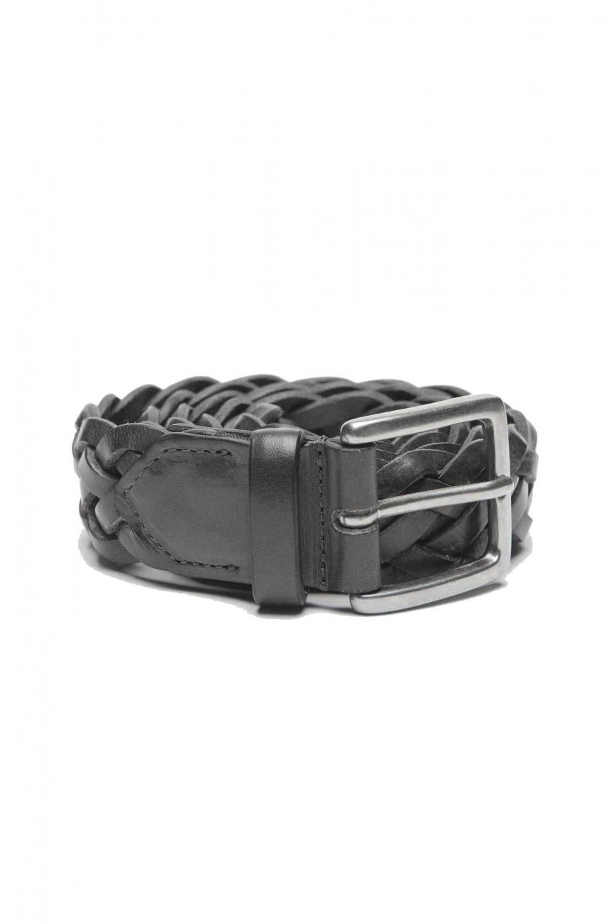 SBU 01235 Cinturón de cuero trenzado 01