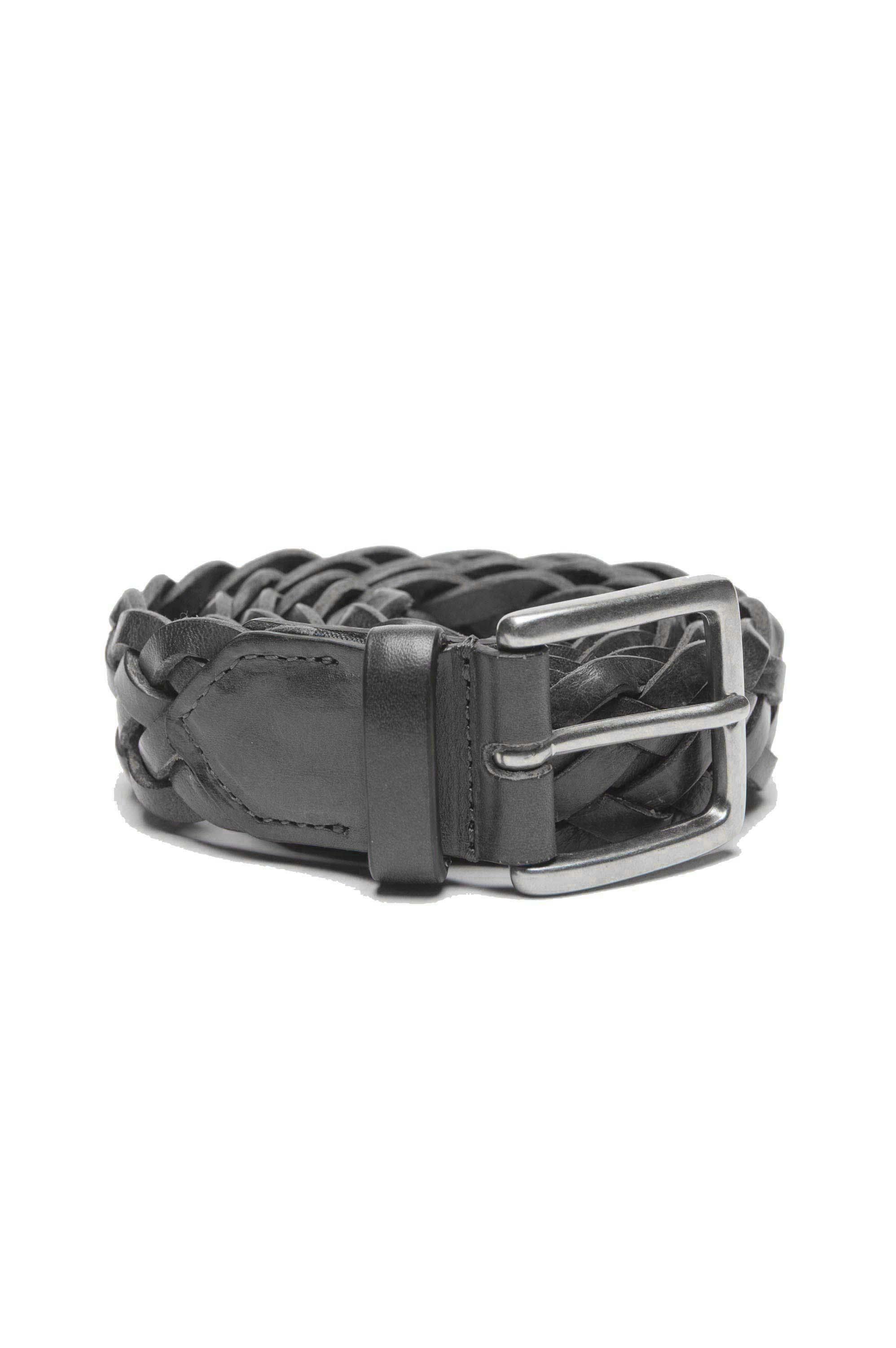 SBU 01235 Braided leather belt 01