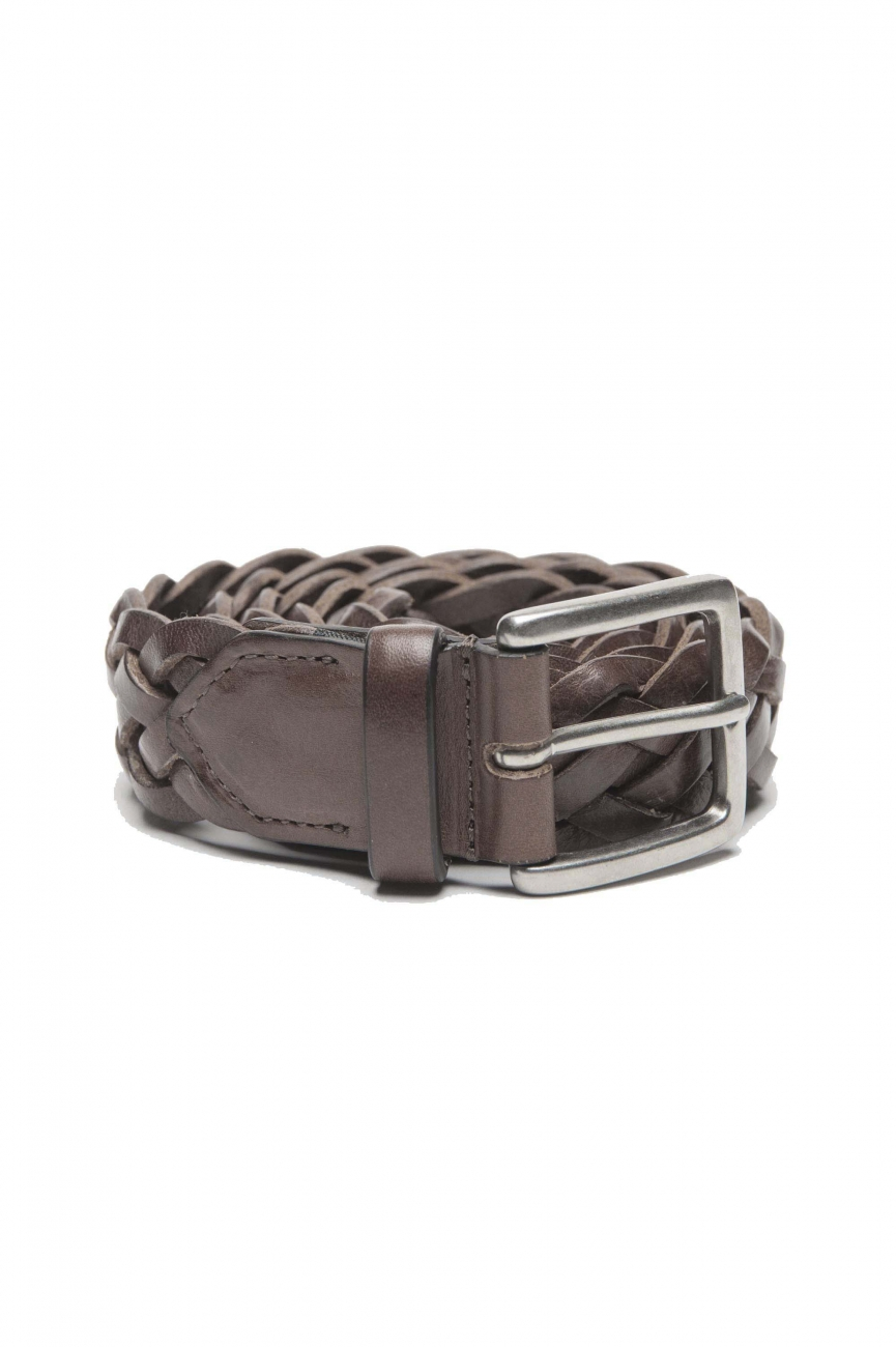 SBU 01236 Cintura in pelle intrecciata 01