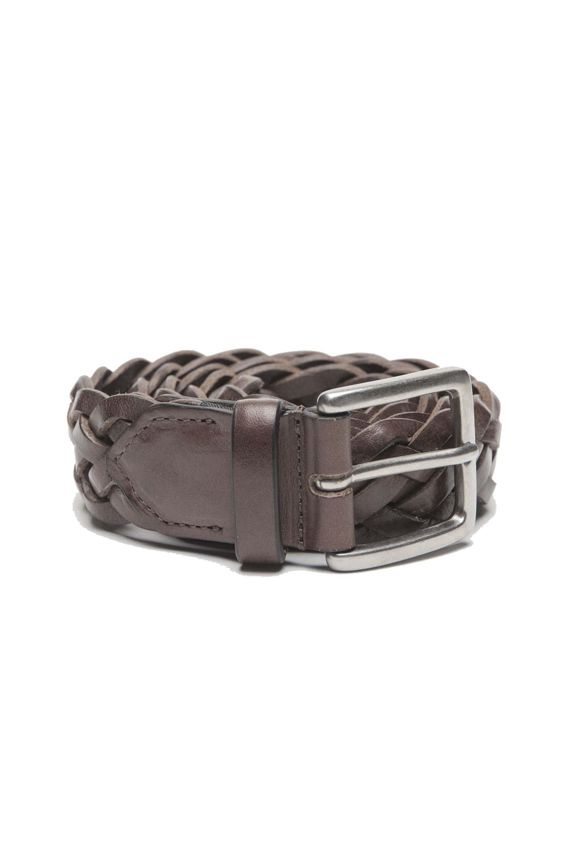 SBU 01236 Cinturón de cuero trenzado 01