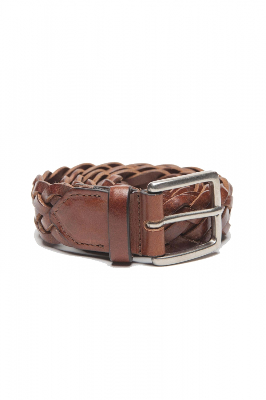 SBU 01237 Braided leather belt 01
