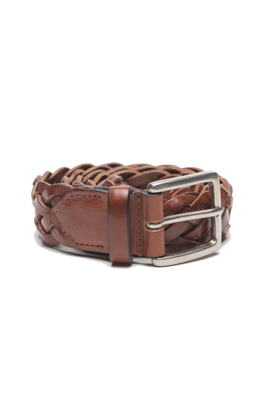 SBU 01237 Cintura in pelle intrecciata 01