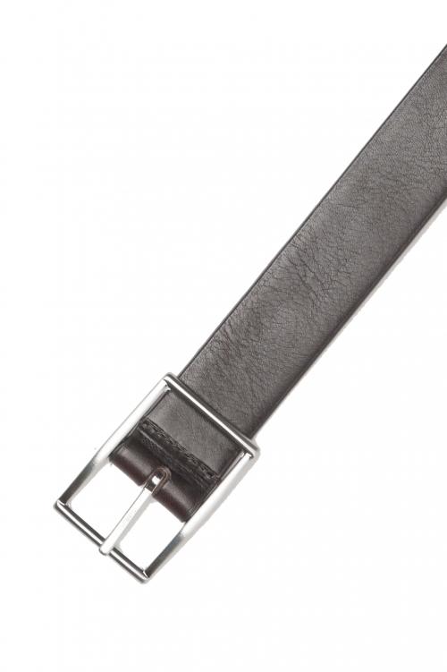 SBU 01246 Cinturón reversible de cuero 01