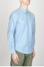 SBU - Strategic Business Unit - Classic Ultra Light Blue Indigo Cotton Chambray Rodeo Shirt