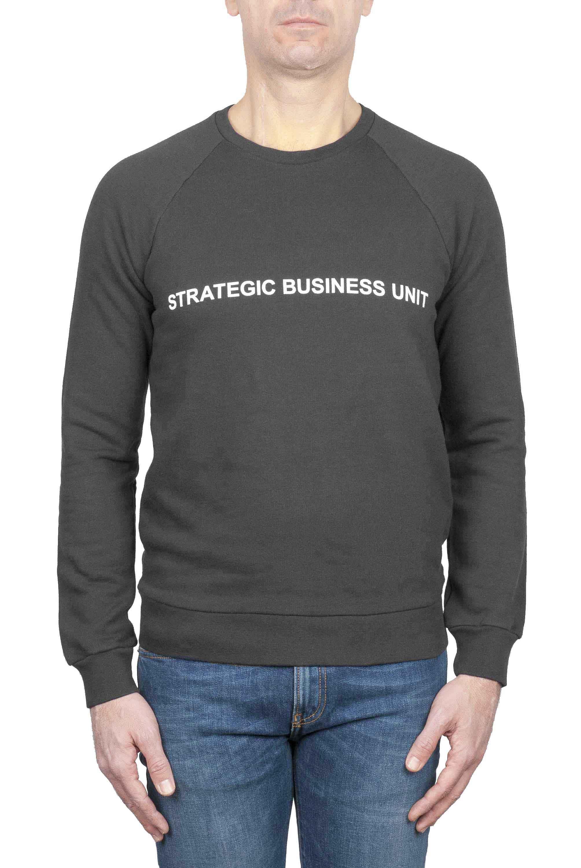 SBU 01217 プリントロゴのクルーネックスウェットシャツ 01