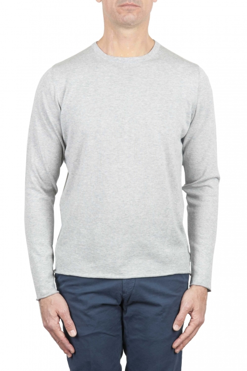 SBU 01260 クルーネック生のカットセーター 01