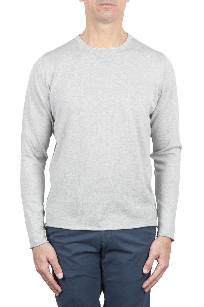 SBU 01260 Suéter de corte crudo en cuello redondo 01
