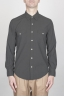 SBU - Strategic Business Unit - Camicia Texana Western In Cotone Chambray Nera