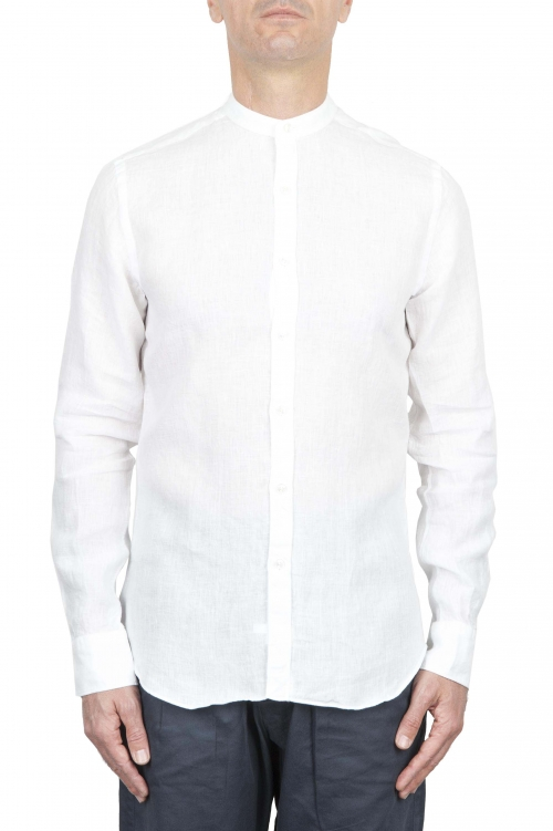SBU 01273 マンダリンの襟の綿のシャツ 01