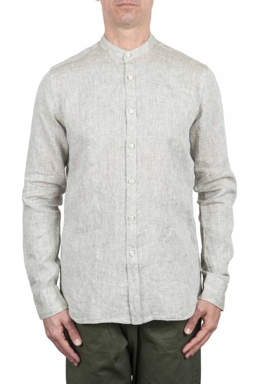 SBU 01275 マンダリンの襟のリネンシャツ 01